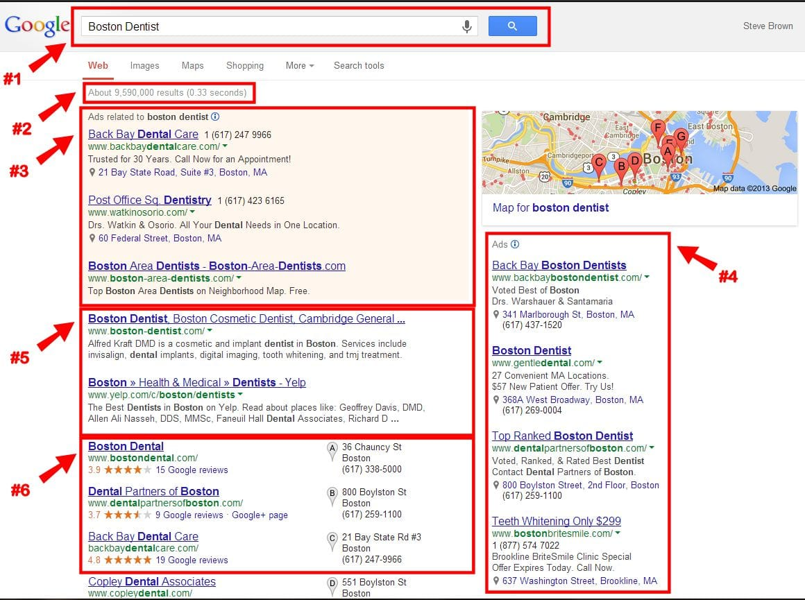 Dental Search Engine Results