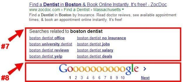 Google Related Searches and Page Control