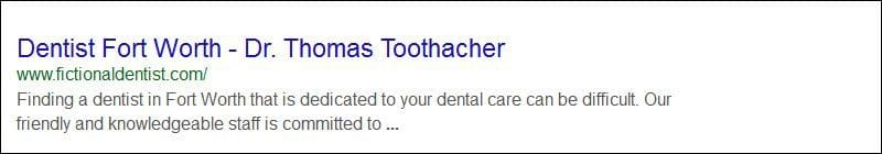 Dental Search Engine Listing