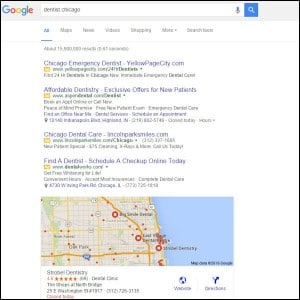 dentist search engine marketing