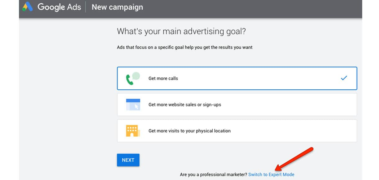 google ads expert mode
